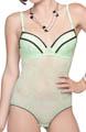 Affinitas Intimates Serena Stretch Lace Bodysuit Bra 6865