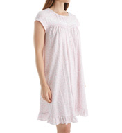 Eileen West Cap Sleeve Rose Short Nightgown 5016070