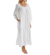 Eileen West Embroidery Long Sleeve Ballet Nightgown 5016107