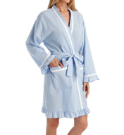 Eileen West Seersucker Short Wrap Robe 5116019