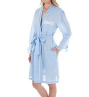 Eileen West Chambray Short Wrap Robe 5116048