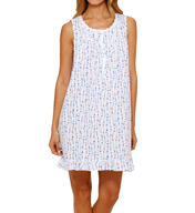 Eileen West Amalfi Coast Sheer Jersey Short Nightgown 5315994