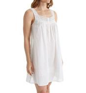 Eileen West Cotton Lawn Net Lace Short Chemise 5316040