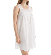 Eileen West Toile Sleeveless Short Chemise 5316064