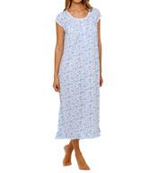 Eileen West Amalfi Coast Sheer Jersey Ballet Nightgown 5415994