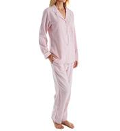 Eileen West Ruby Flannel Notch Collar Pajama 5716105