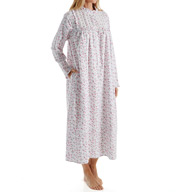Eileen West Ruby Flannel High Neck Ballet Nightgown 5816114