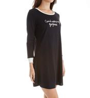 kate spade new york Graphic Brushed Terry Long Sleeve Sleepshirt 5071251