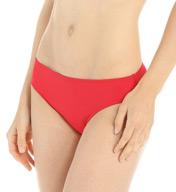 Lauren Ralph Lauren Laguna Solids Hipster with Logo Plate Swim Bottom LR5F093